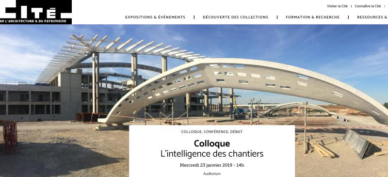 Cite Architecture Colloque des Chantiers