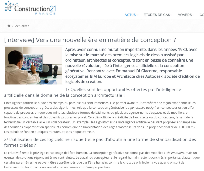 Intelligence artificielle Construction 21