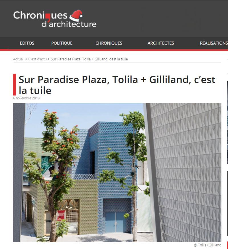 Chroniques Architecture