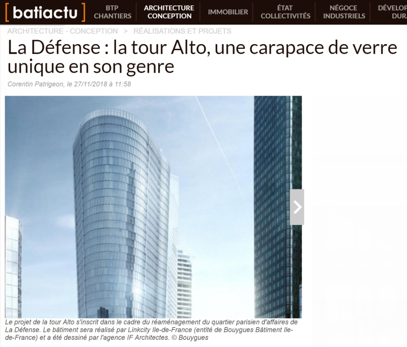 IF Architectes Tour Alto Bouygues Batiment